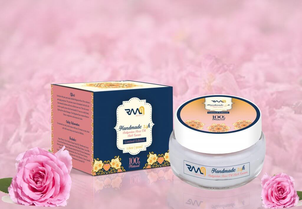 Handmade 24H Bulgarian Rose Oil Rich Cream