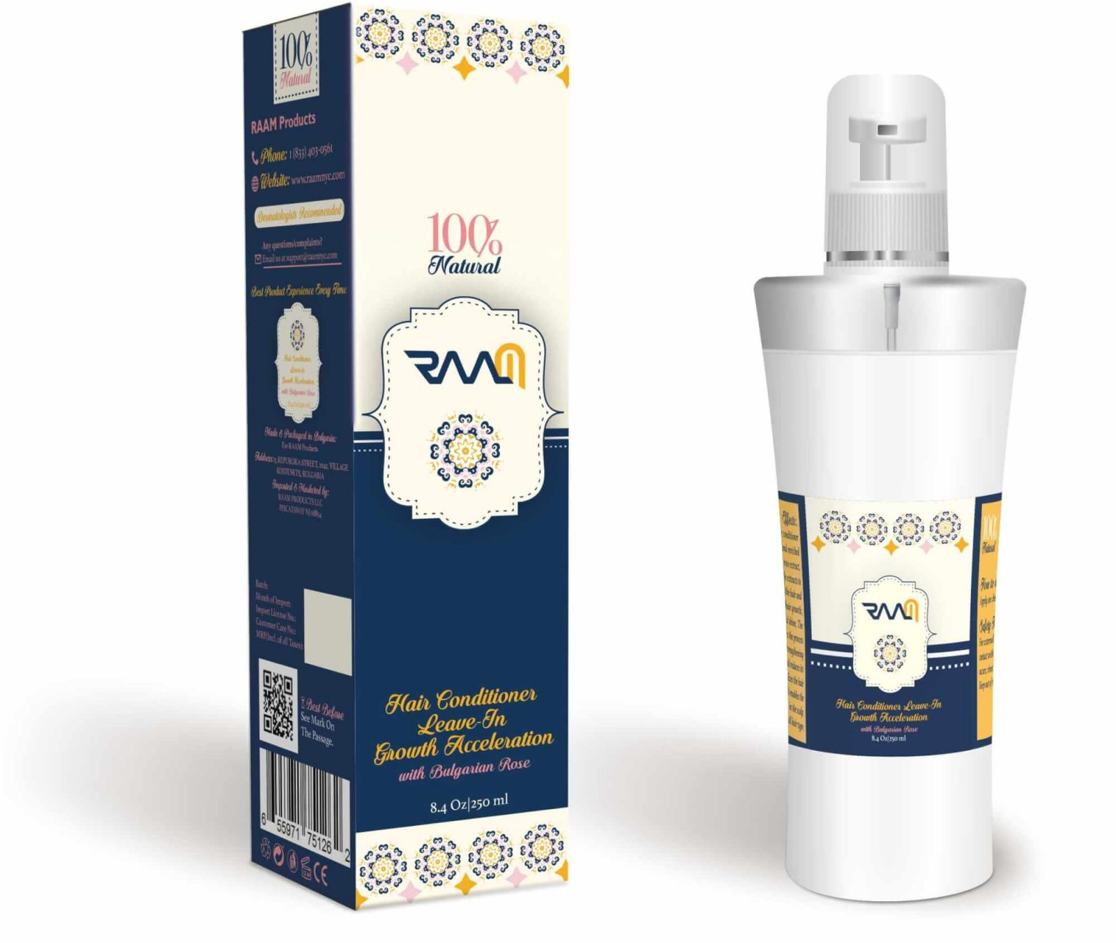06-Raam Hair Conditioner Leave-in Growth Acceleration Bottle mockup 2